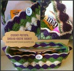 Shelled Crochet Easter Basket Pattern