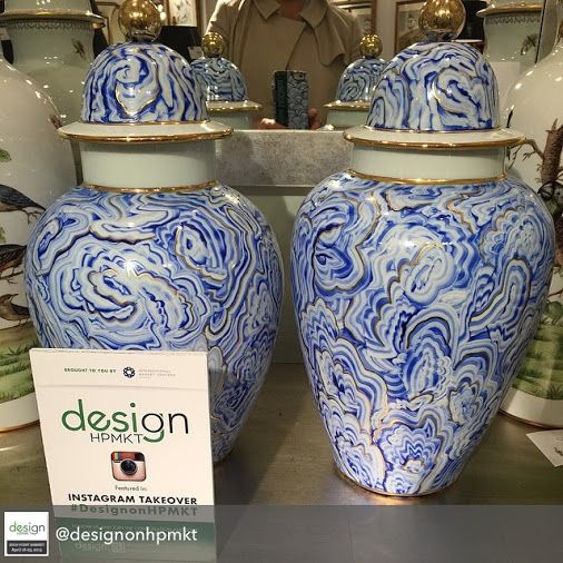 #blueandwhite urns from Chelsea House | #hpmkt #hpmkt2015