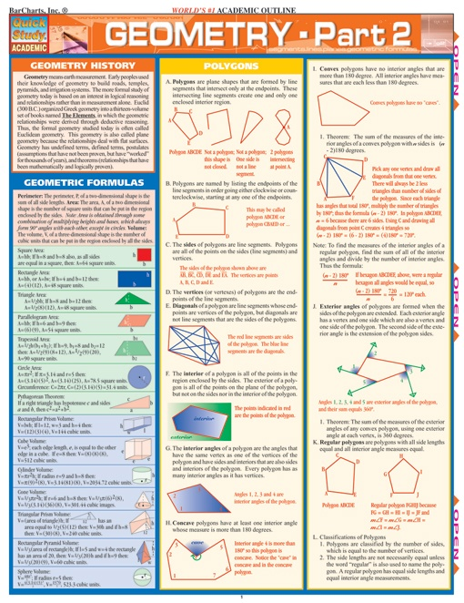 This 6-page guide picks up where the Geometry Part 1 guide left off. It contains…