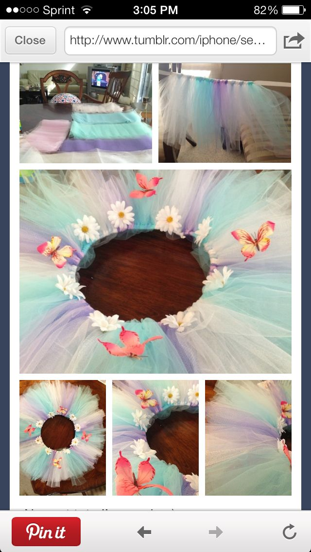 Colorful homemade tutu