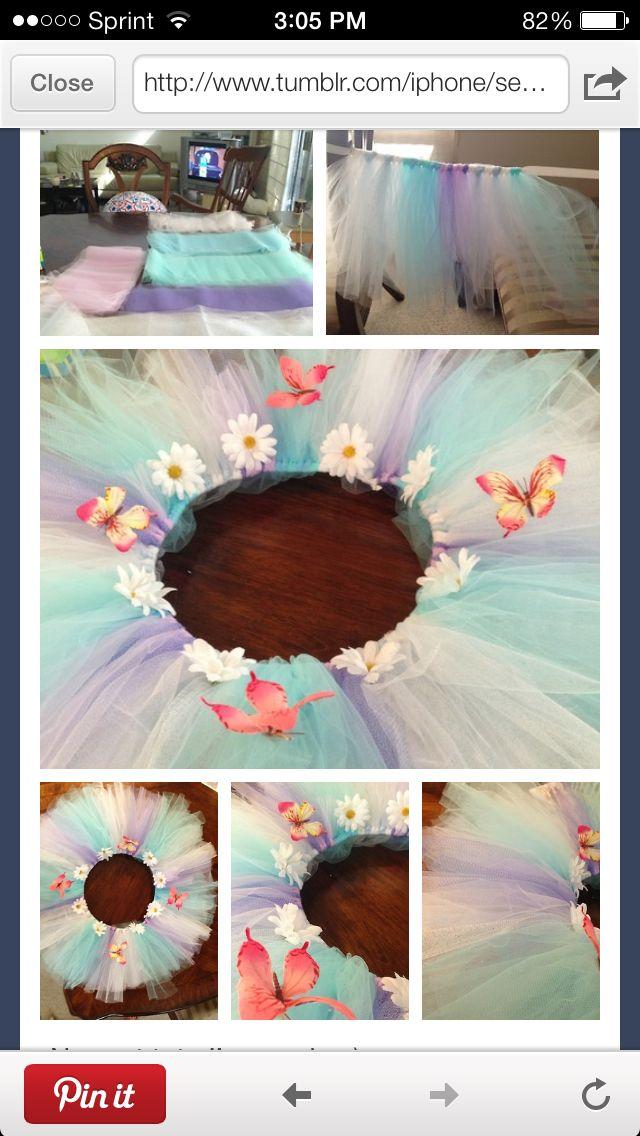 Colorful homemade tutu