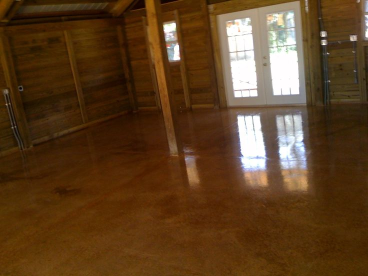 Stain Those Ugly Concrete Floors And Make Them Gorgeous!! #home #decoration