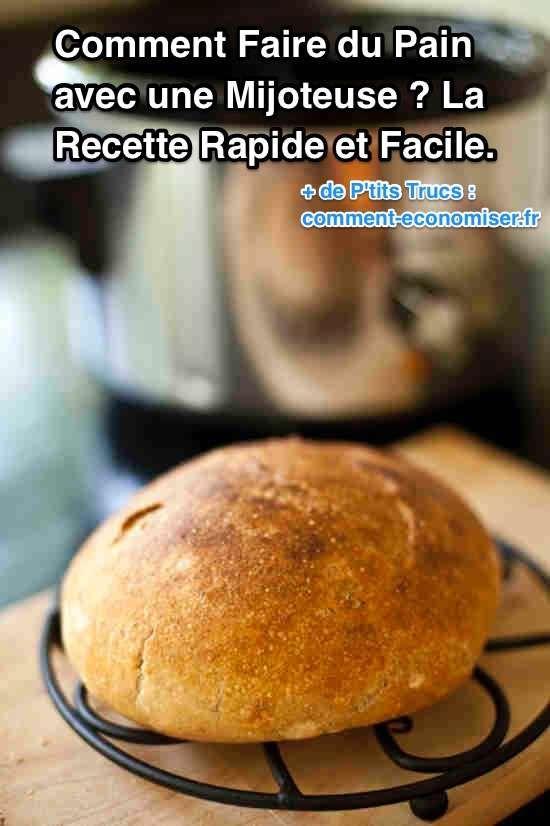 Vous voulez savoir comment on fait du délicieux pain maison à la mijoteuse électrique ? Croyez-moi, il n'y a rien de meilleur que les sandwichs et tartines au pain fait maison :-) Découvrez l'astuce ici  http://www.comment-economiser.fr/comment-faire-pain-avec-mijoteuse.html?utm_content=buffercd743&utm_medium=social&utm_source=pinterest.com&utm_campaign=buffer