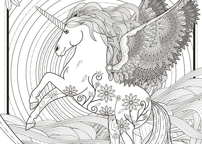 final unicorn coloring page pic - Coloring Pages Unicorns Printable