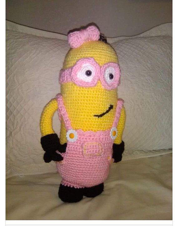 Girl Minion Doll by CreativeMomentsCo on Etsy