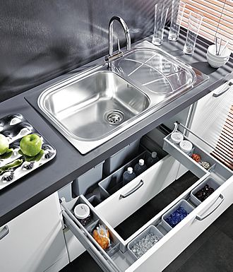ELLETIPI Каталог раковина шкафы FORM The ideal solution to organize the space in the top drawer under the sink.