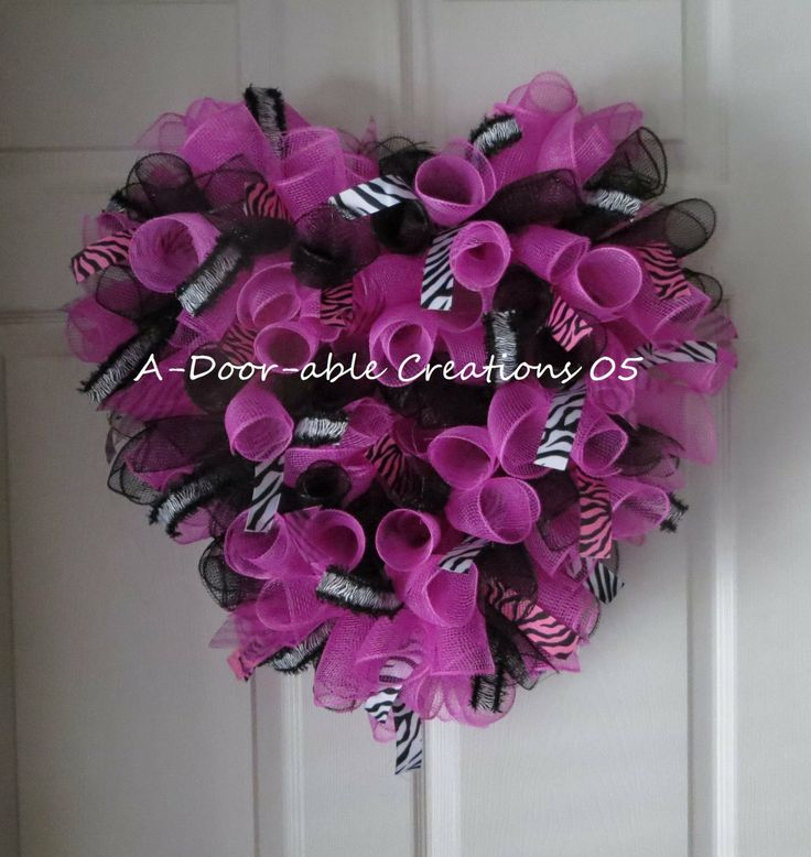ZEBRA Heart Shaped..LOVE the combo of pink and zebra