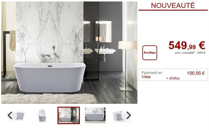 Baignoire Design Adossable Divina Pas Cher Baignoire Ilot Vente