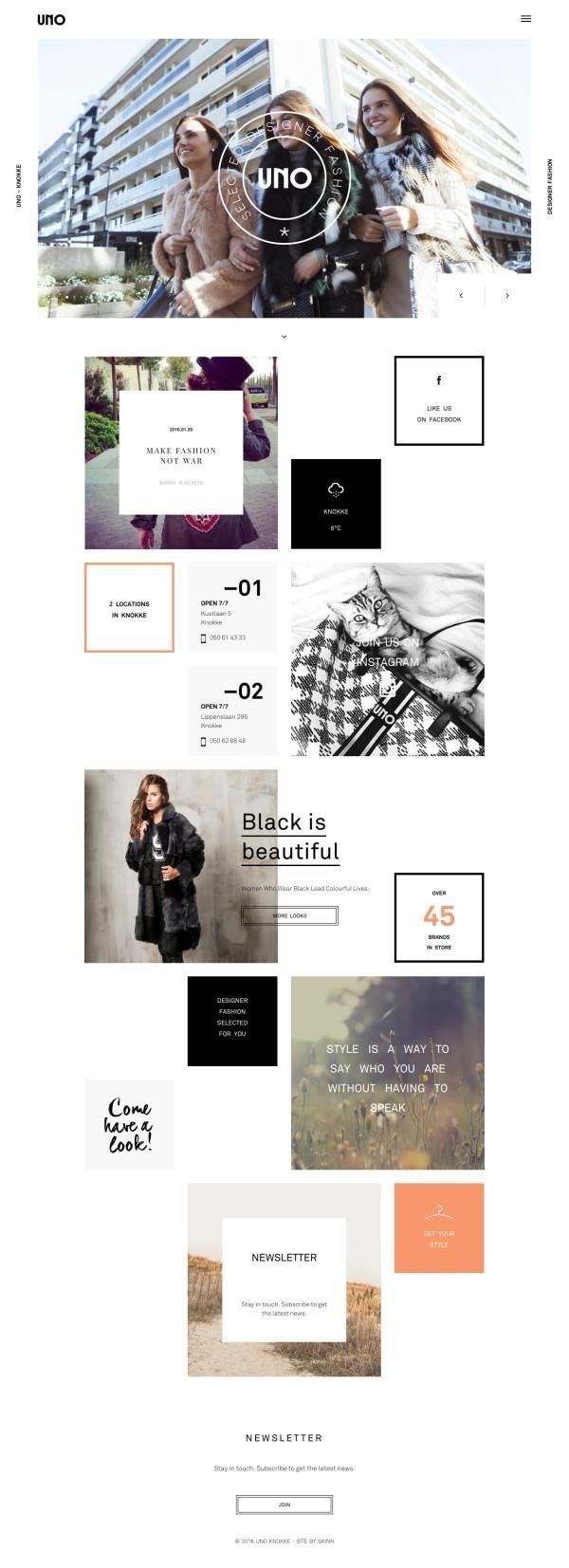 Screenshot http://www.unoknokke.be/ - created via https://pinthemall.net
