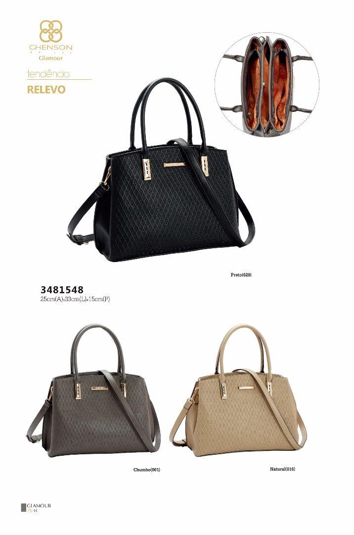 79ab2eab7 Bolsa feminina Chenson Relevo 3481548 - Bergamoda Bolsas e Acessórios