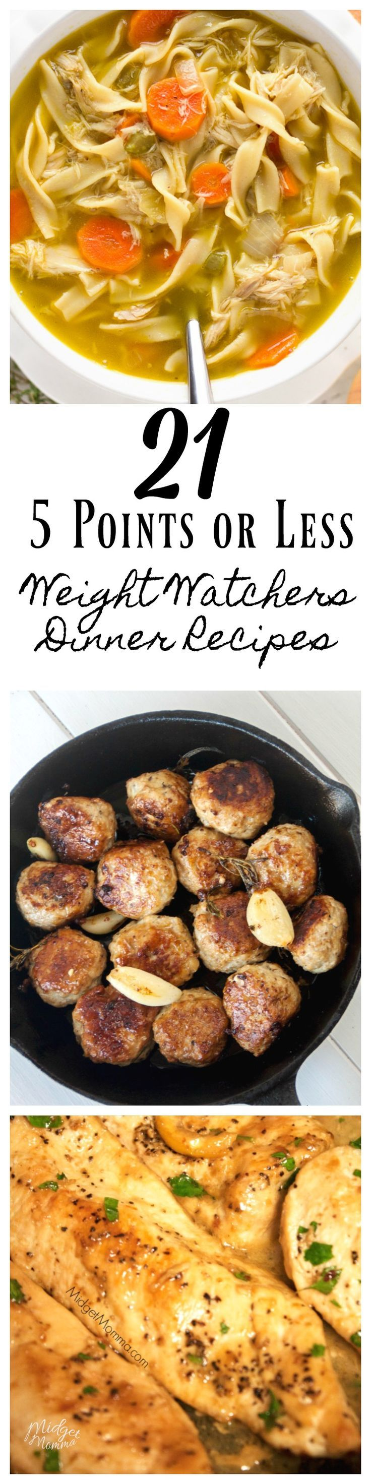 Enjoy your Weight Watchers Diet with these Points or Less Weight Watchers Dinner Recipes. Being on weight watchers means you get to eat tasty dinners and not feel like you are on a diet! #WeightWatchers #weightwatchersrecipes #dinner