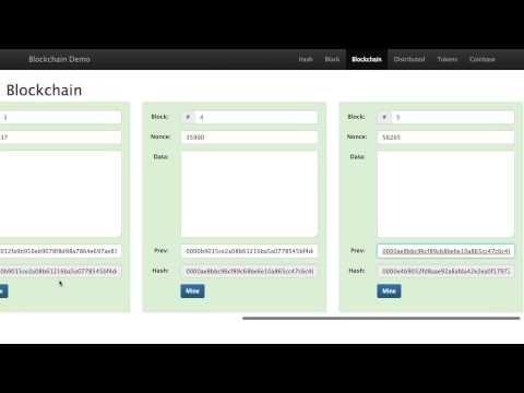 Blockchain 101 - A Visual Demo - YouTube