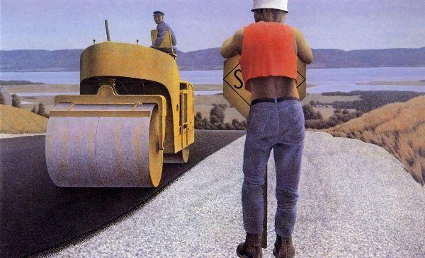 Alex Colville (Canadian, born 1920) 'Road Work'
