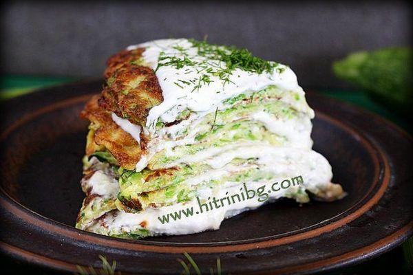 Такава палачинкова торта с тиквички може да поднесете като предястие, а защо не и като леко основно ястие. Това ястие е непретенциозно и...
