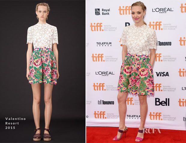 Amanda Seyfried In Valentino – 'While We're Young' Toronto Film Festival Premiere
