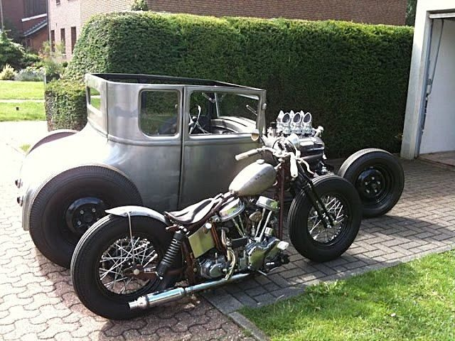 "hotrodfeed: "" Hot rod and Panhead bobber """
