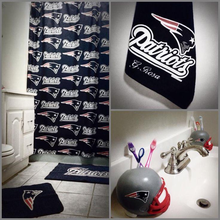 Nfl New England Patriots Bathroom Set Themed