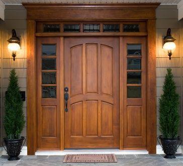 front door pictures ideas | Modern Front Door Decor on Choice Of Materials For Front Door Designs