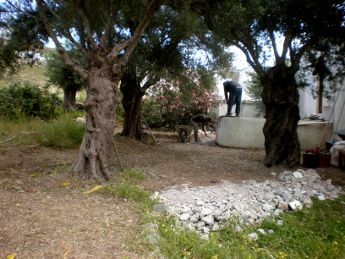 A new outdoor yoga platform at YogaOnCrete!