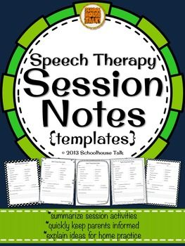 Speech Therapy Session Notes Repinned by SOS Inc. Resources pinterest.com/sostherapy/.