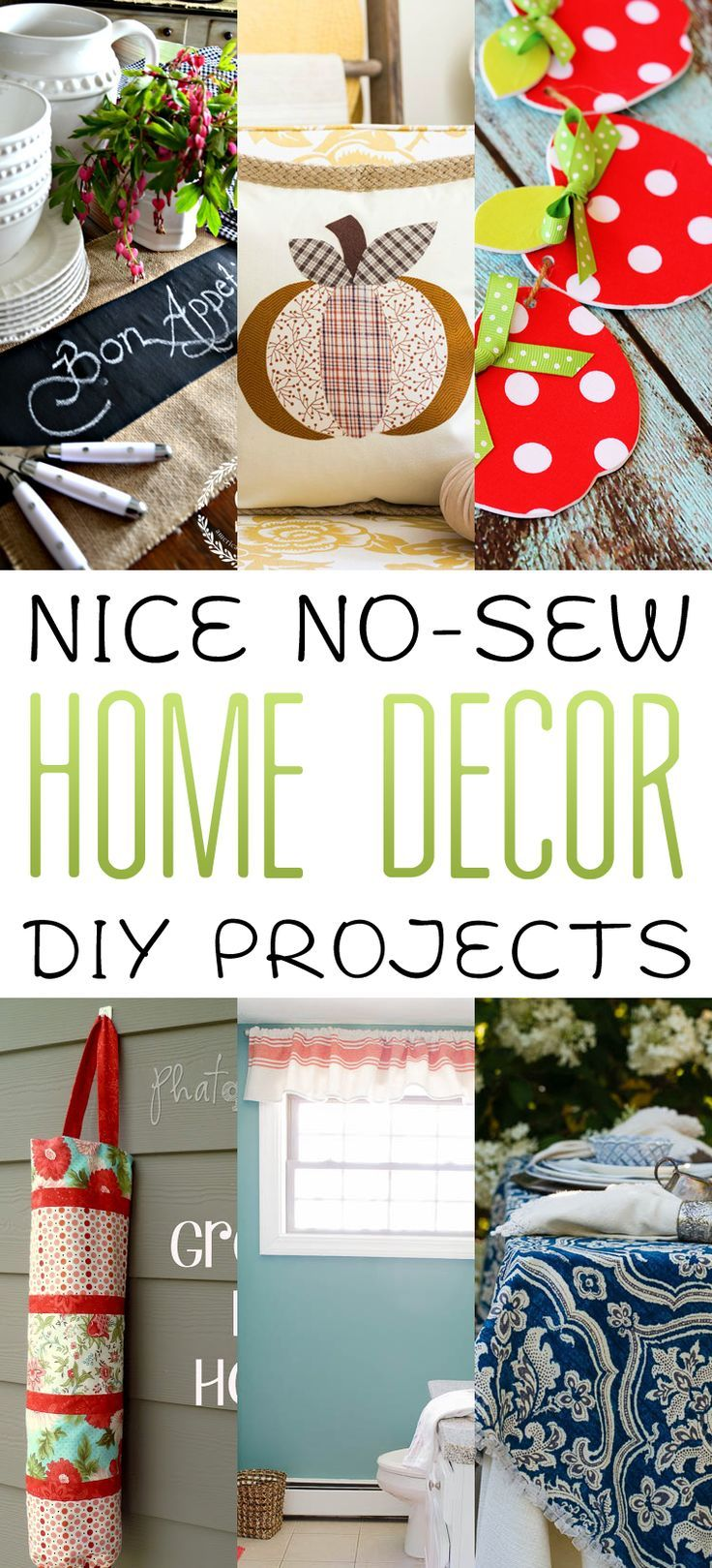 Nice No Sew Home Decor DIY Projects