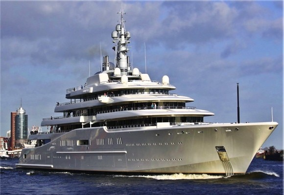 Specifications of Eclipse yacht: • Length: 162.50 m • Beam: 22.00 m • Draft: 6.10 m • Deadweight: 1,480 DWT • Gross Tonnage: 13,564 GRT • Capacity: 48 passengers • Crew: 70 crew members • Engine: 4 x MTU 20V 1163 TB93 • Speed: 25.0 kn • Shipyard: Blohm and Voss GmbH in Hamburg, Germany • Year: 2009 • Owner: Roman Abramovich Camilleri Marine always ready to serve you again ;) www.camillerimarine.com