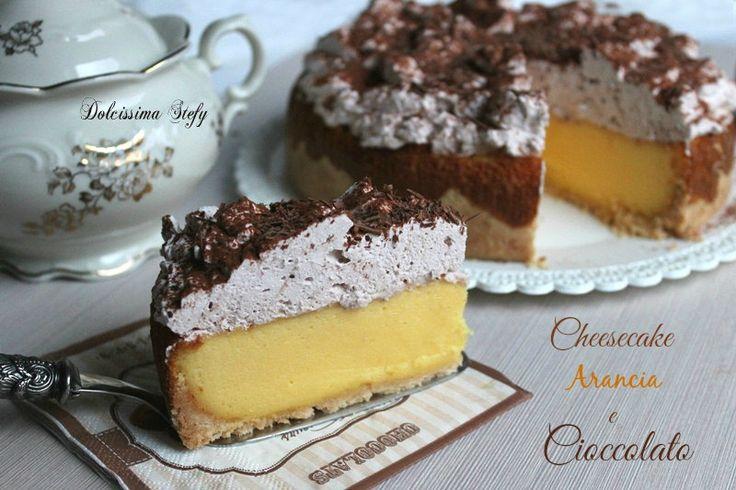 La Cheesecake Arancia e Cioccolato è un ottimo dessert,un goloso attimo di piacere per il palato