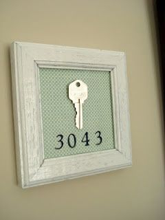 Cute idea to remember your first (or only) home! - Craft ~ Your ~ Home
