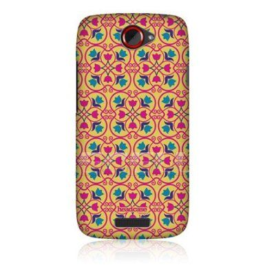 Ecell - HEAD CASE DESIGNS YELLOW FLORAL MOROCCAN PRINT PATTERN BACK CASE FOR HTC ONE S: Amazon.co.uk: Electronics