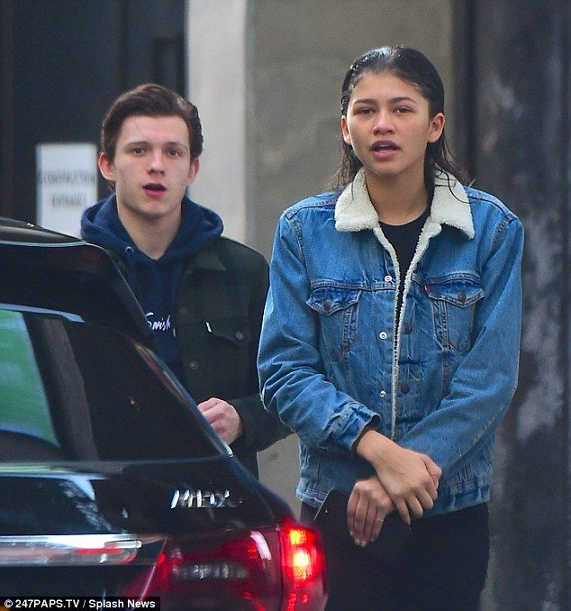 Firm friends: Zendaya and Tom Holland, both 20, stepped out in New York together on Wednesday