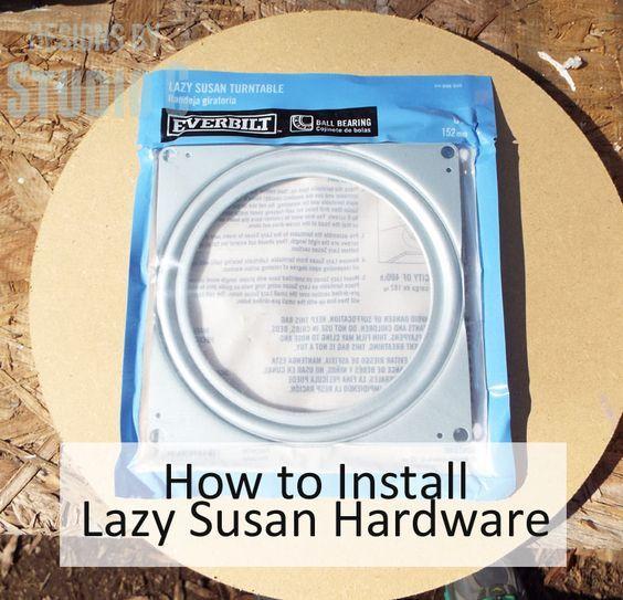Installing Lazy Susan Hardware