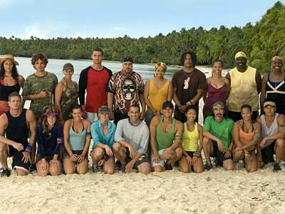 Survivor Cook Islands. Each tribe was divided by race. And introducing Ozzie and Parvati..