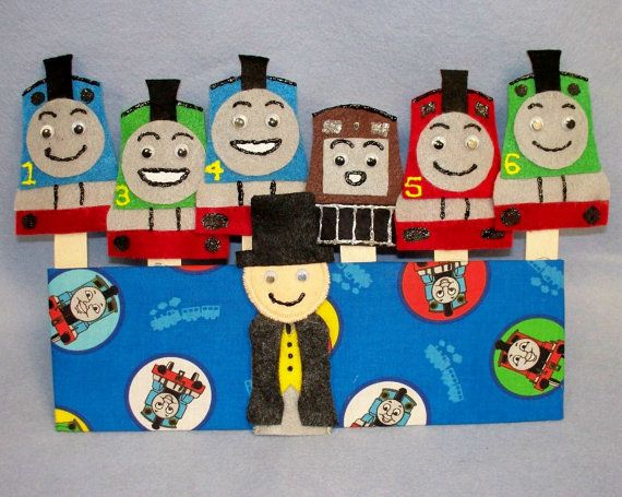 Thomas And Friends Felt Finger Puppets by littlefox71 on Etsy, $20.00