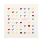 Greeting Card: You're My Favourite Hearts