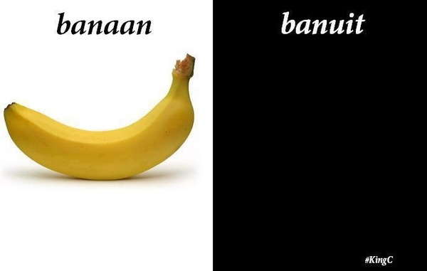 """Banaan, banuit (""""aan"""" and """"uit"""" stand for """"on"""" and """"off"""" in Dutch)"""