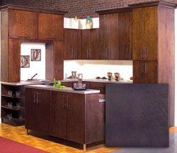 Espresso. Slab / Kitchen Cabinets - Discount Kitchen Cabinets - Kitchen Remodeling & Cabinets Design