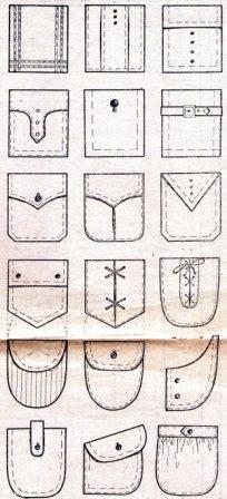 накладные карманы разных видов для женской и мужской одежды
