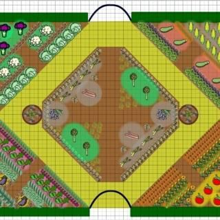 1000 ideas about vegetable garden layouts on pinterest for Veggie patch layout