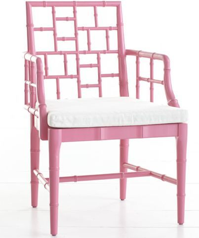 pink bamboo chair