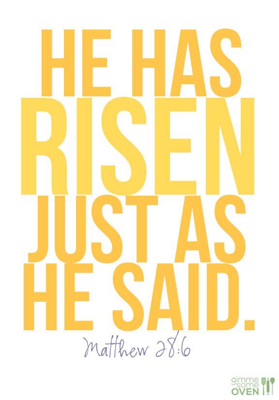 He is risen indeed.