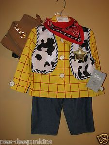Hollywood Studios Dress-up Disney Store Woody Toy Story costume 2-3 toddler boys dress up NWT