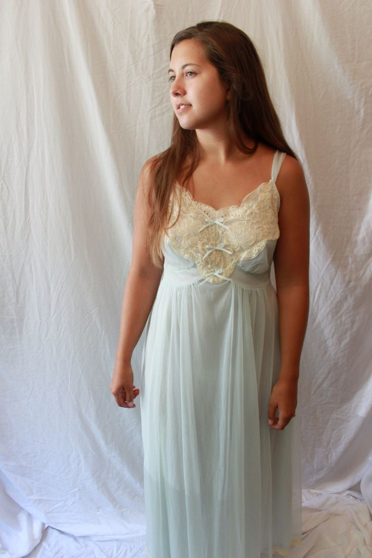 Vintage Lace Nightgown my Gotham Lingerie Sheer Nighty ...