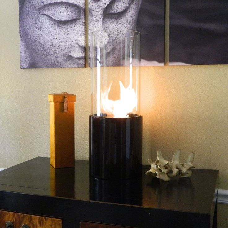 Nu-Flame Doppio Noir Tabletop Cylinder Portable Fireplace