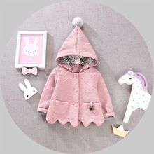 Autumn Winter Baby Girls Hooded Cotton Thick Jacket Coat Kids Cardigans Children's Christmas Outewears casaco roupas de bebe(China (Mainland))