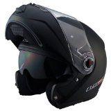 LS2 Helmets FF386 Modular Motorcycle Helmet (Solid Matte Black, Large)
