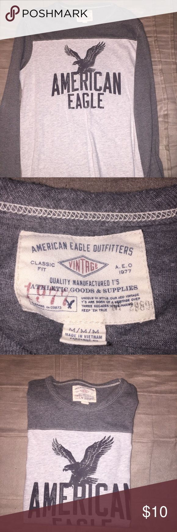 Men's American Eagle long sleeve Men's American Eagle long sleeve tee in excellent condition only wore 1 time American Eagle Outfitters Shirts Tees - Long Sleeve