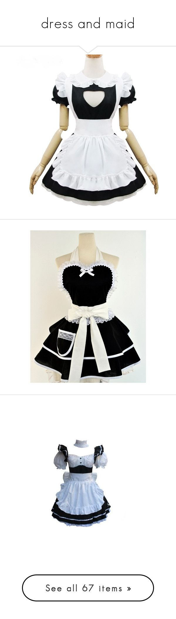 White pinafore apron costume -  Dress And Maid By Sweetrevenge 1 Liked On Polyvore Featuring Costumes