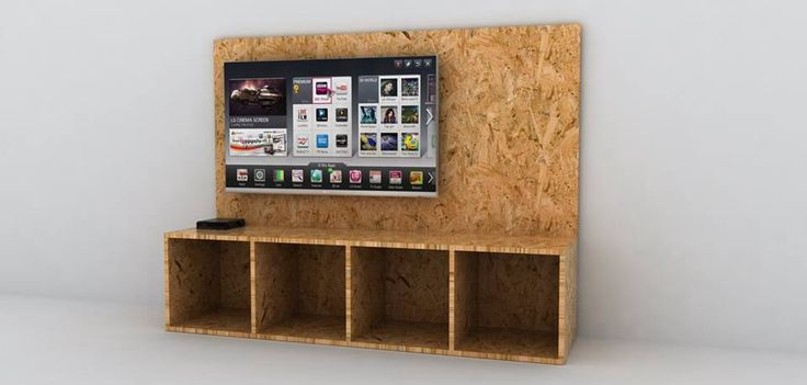 Practical Osb Tv Stand Shelf Diy Amp Crafts Pinterest