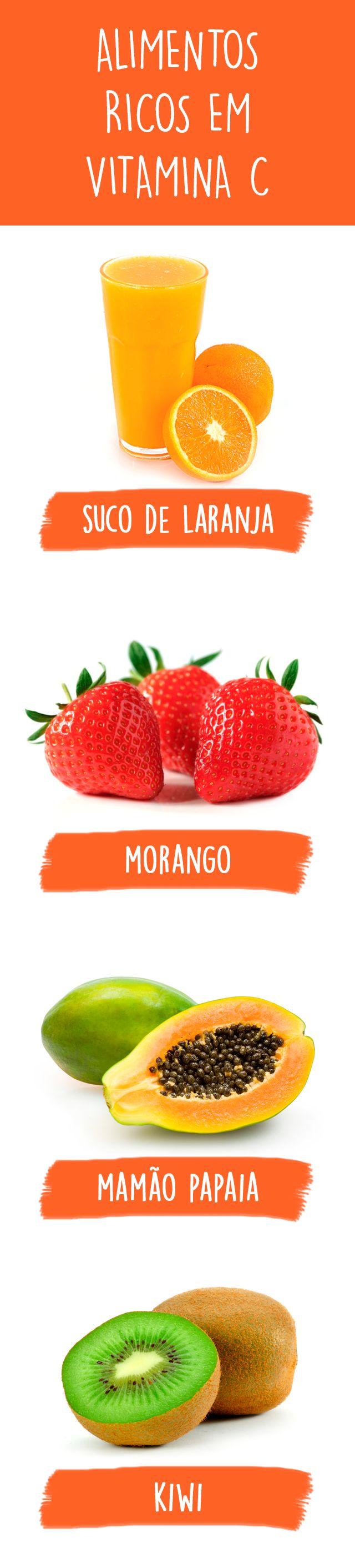 Os alimentos ricos em vitamina C, como morango, laranja e limão, ajudam a fortalecer as defesas naturais do corpo porque contém antioxidantes que combatem os radicais livres que em excesso favorecem a instalação de doenças.