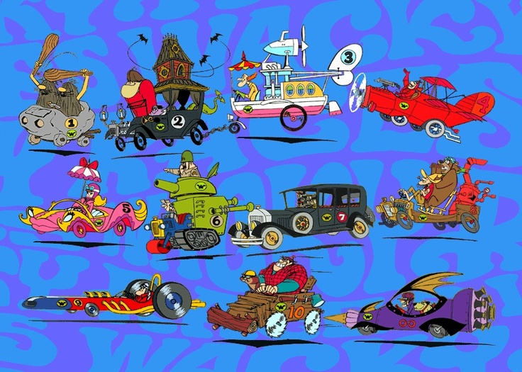 18 best Wacky Races images on Pinterest | Hanna barbera ...  |Wacky Racers Cartoon